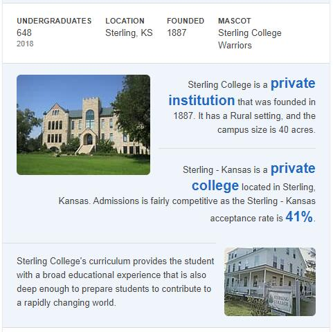 Sterling College History