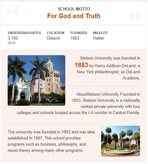 Stetson University History