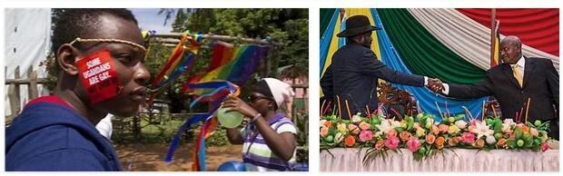 Sudan and Uganda