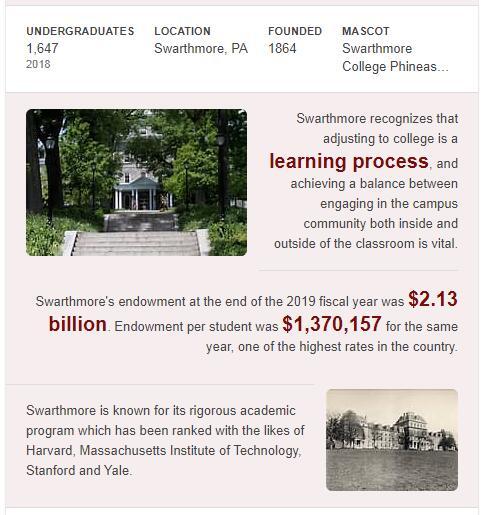 Swarthmore College History