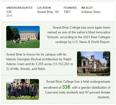 Sweet Briar College History