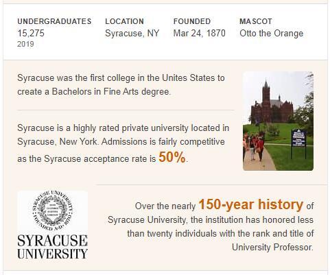 Syracuse University History