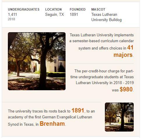 Texas Lutheran University History