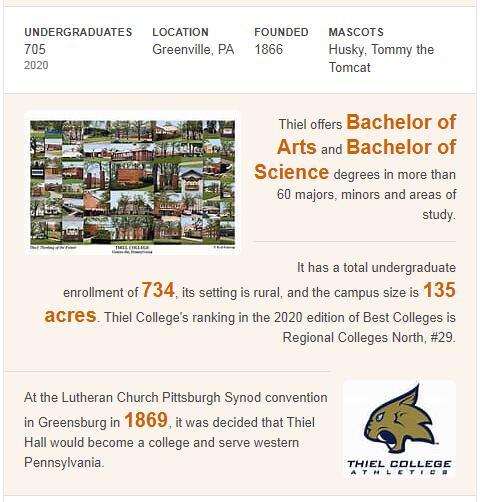 Thiel College History