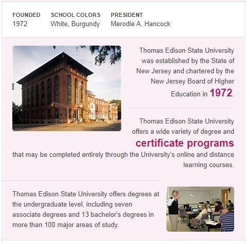 Thomas Edison State College History