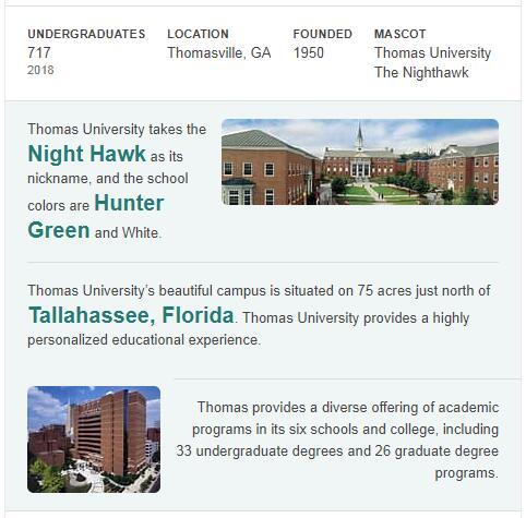 Thomas University History