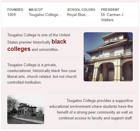 Tougaloo College History