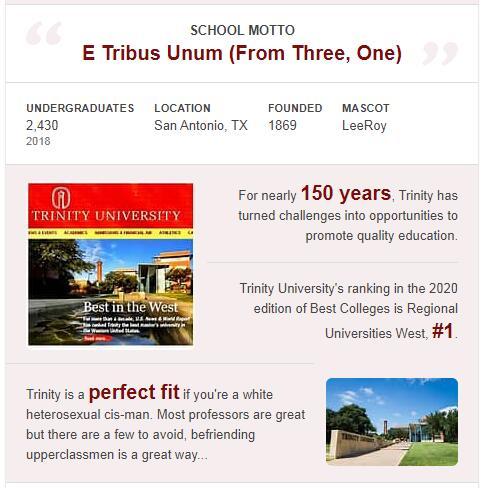 Trinity University History