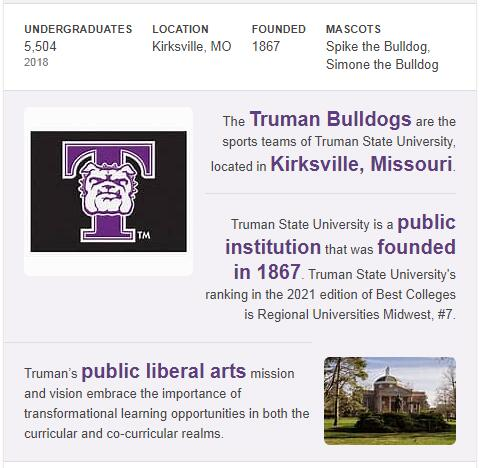 Truman State University History