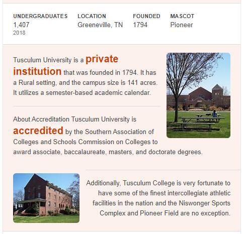 Tusculum College History