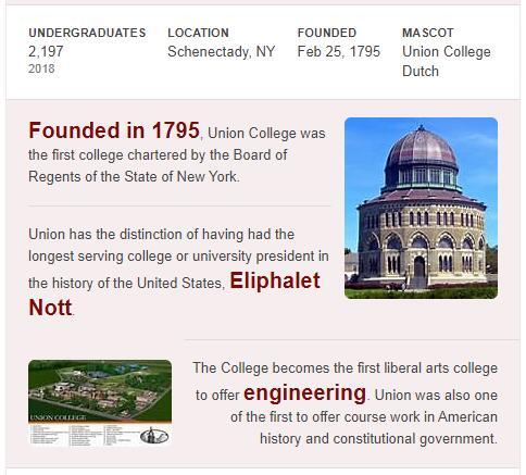 Union College History
