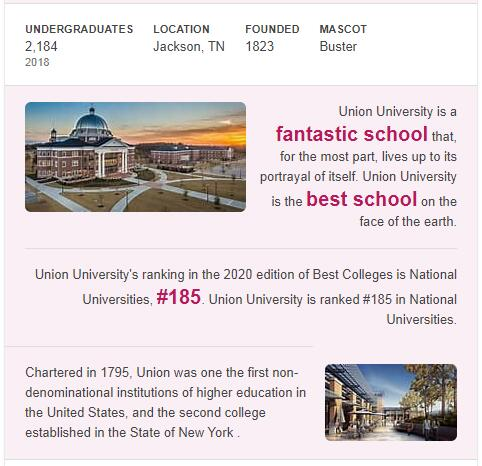 Union University History