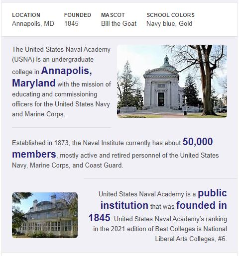 United States Naval Academy History