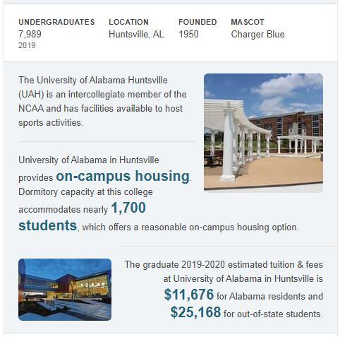 University of Alabama-Huntsville History