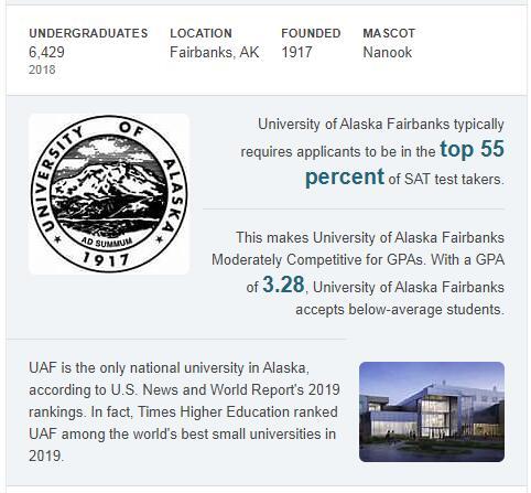 University of Alaska-Fairbanks History