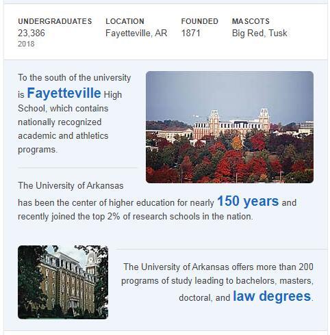University of Arkansas History