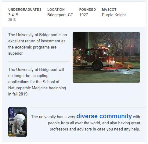 University of Bridgeport History