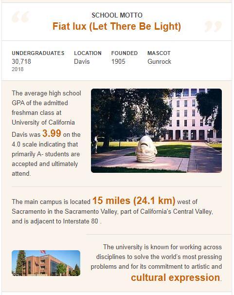 University of California-Davis History