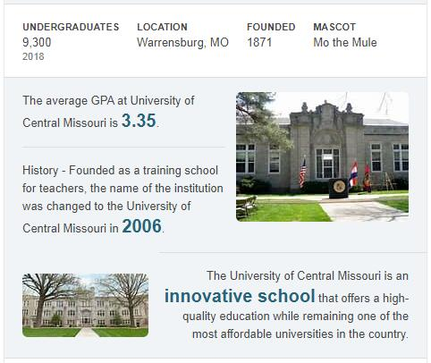University of Central Missouri History