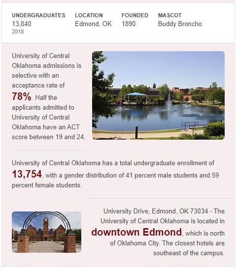 University of Central Oklahoma History