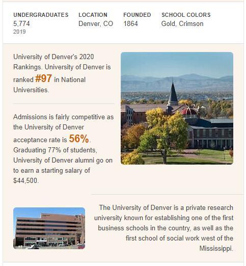 University of Denver History