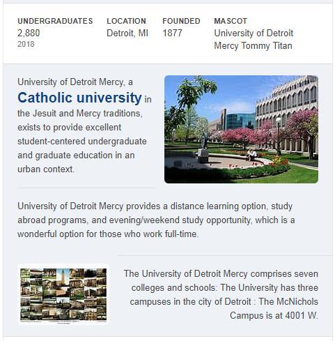 University of Detroit Mercy History