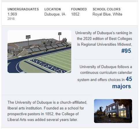 University of Dubuque History