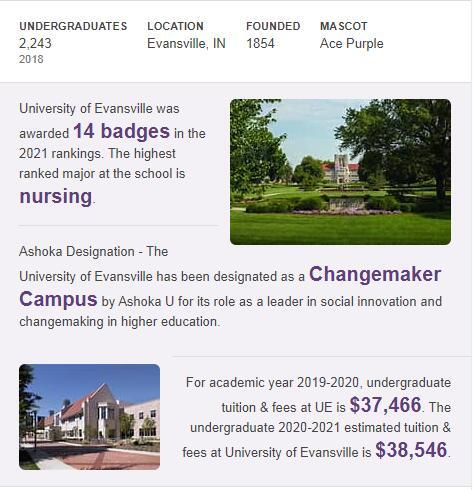 University of Evansville History