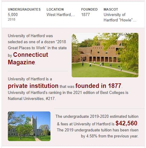 University of Hartford History