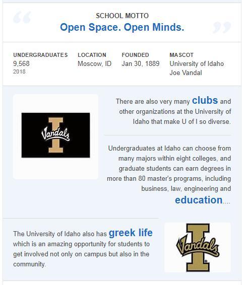 University of Idaho History