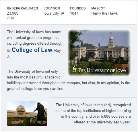 University of Iowa History