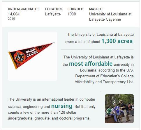 University of Louisiana-Lafayette History