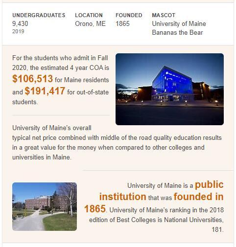 University of Maine History
