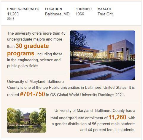 University of Maryland-Baltimore County History