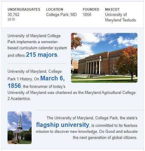 University of Maryland-College Park History