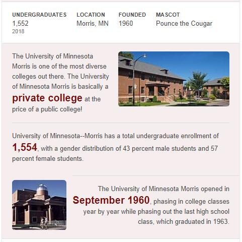 University of Minnesota-Morris History