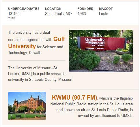 University of Missouri-St. Louis History