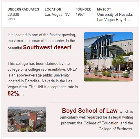 University of Nevada-Las Vegas History