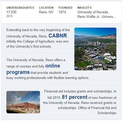 University of Nevada-Reno History