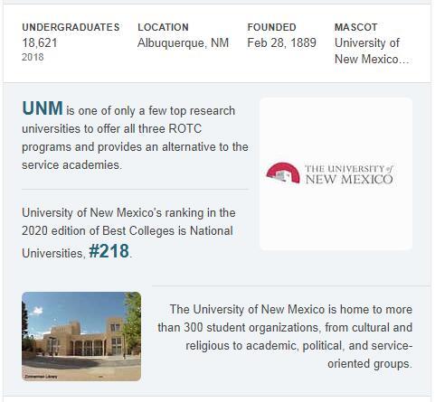 University of New Mexico History
