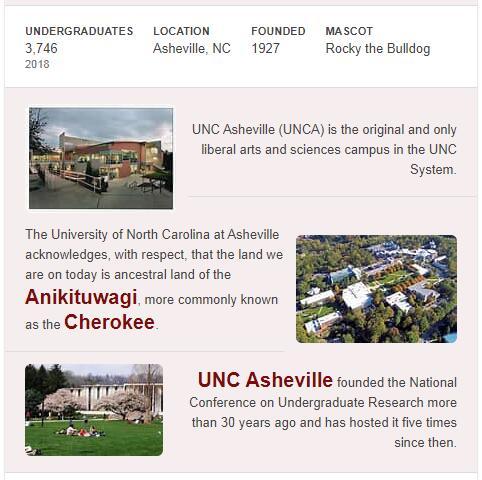 University of North Carolina-Asheville History