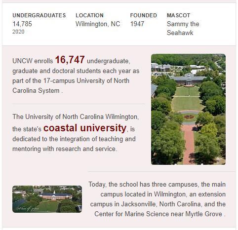 University of North Carolina-Wilmington History