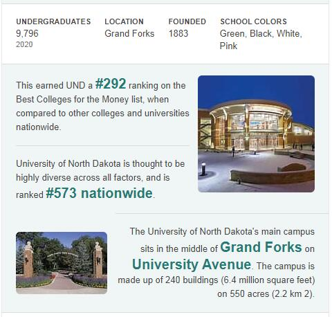 University of North Dakota History