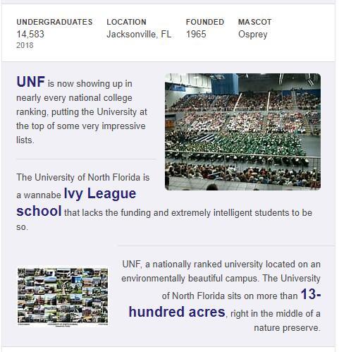 University of North Florida History