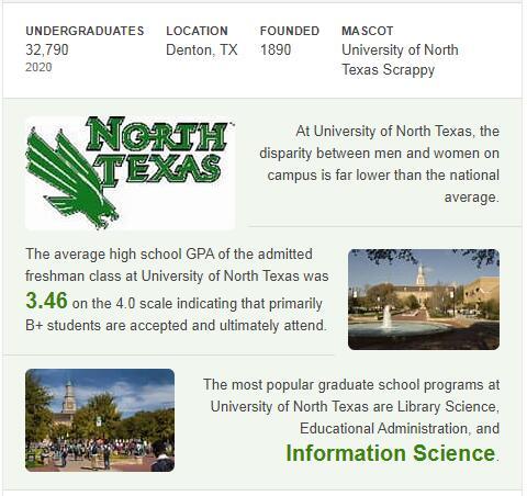 University of North Texas History