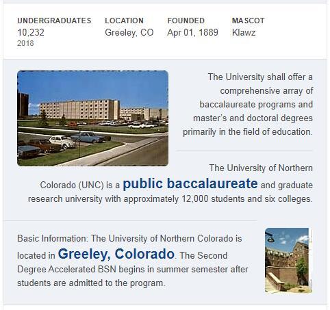 University of Northern Colorado History