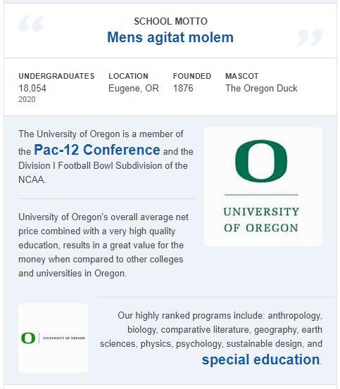 University of Oregon History