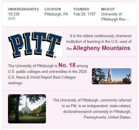 University of Pittsburgh History