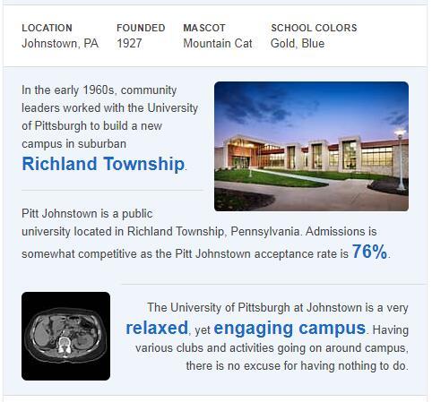 University of Pittsburgh-Johnstown History