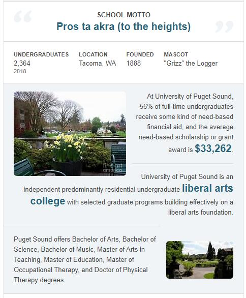 University of Puget Sound History